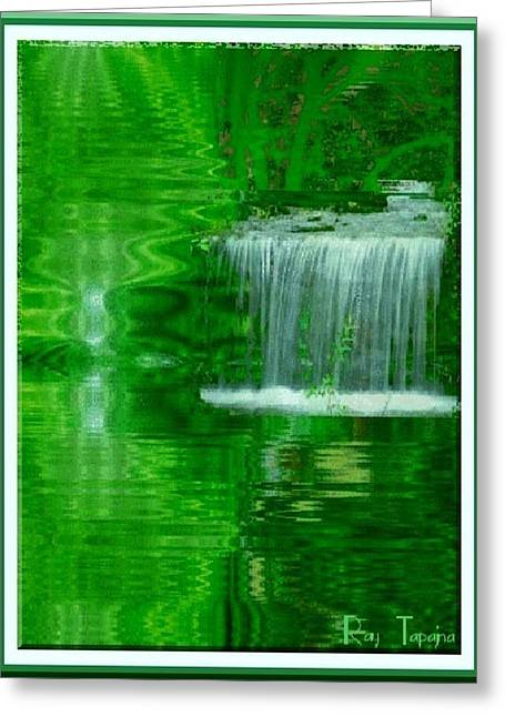 Healing In Green Waters Greeting Card by Ray Tapajna