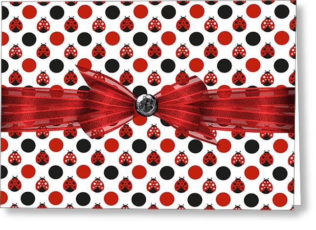 Healing Ladybugs Greeting Card by Debra  Miller