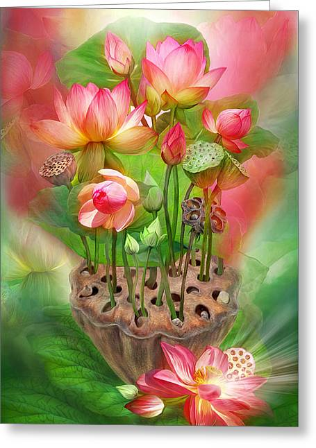 Healing Lotus - Root Greeting Card