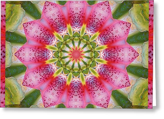Healing Mandala 25 Greeting Card