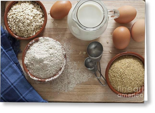 Healthy Baking Greeting Card by Charlotte Lake