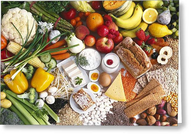 Healthy Foods Greeting Card by Science Photo Library