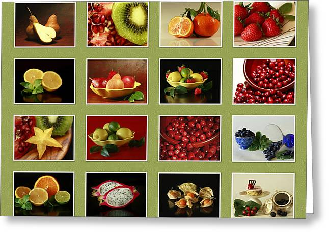 Healthy International Fruits Collection Greeting Card by Inspired Nature Photography Fine Art Photography