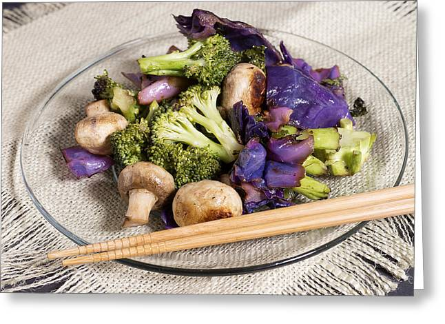 Healthy Vegetarian Stir Fry Greeting Card by Donald  Erickson