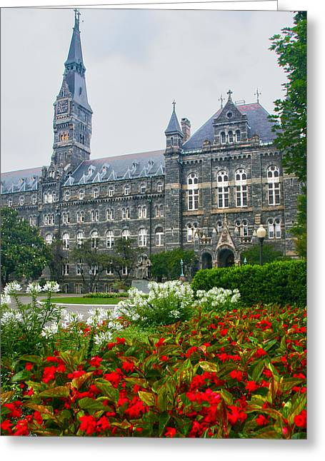 Healy Hall Greeting Card by Mitch Cat