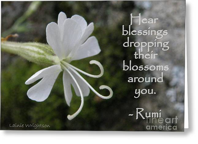 Hear Blessings Greeting Card by Lainie Wrightson