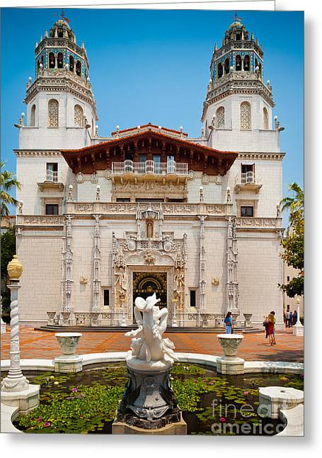 Hearst Castle Greeting Card by Inge Johnsson