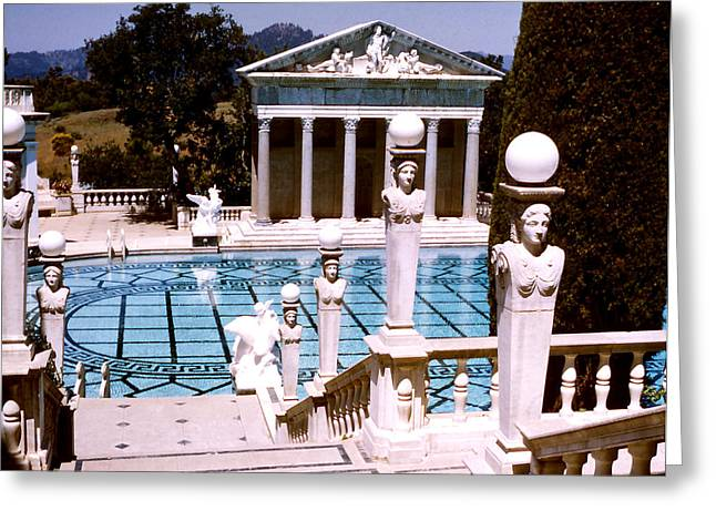 Hearst Castle - Roman Pool Greeting Card by Robert  Rodvik