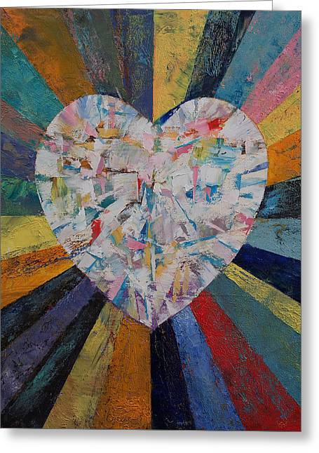 Diamond Heart Greeting Card by Michael Creese