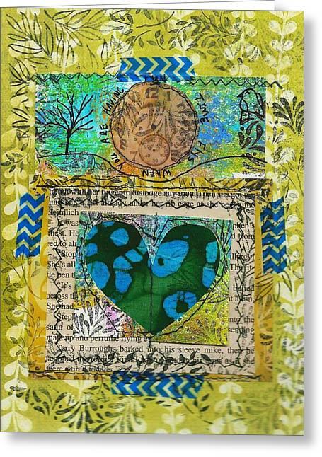 Heart 5 5x7 Greeting Card