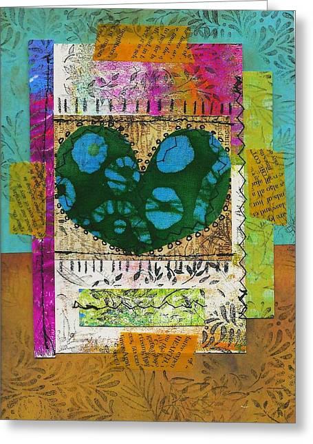 Heart 8 5x7 Greeting Card
