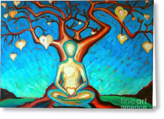 Greeting Card featuring the painting Heart And Soul by Janet McDonald