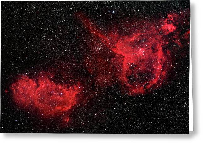 Heart And Soul Nebulae Greeting Card