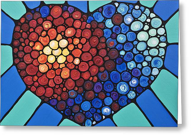 Heart Art - Love Conquers All 2  Greeting Card by Sharon Cummings