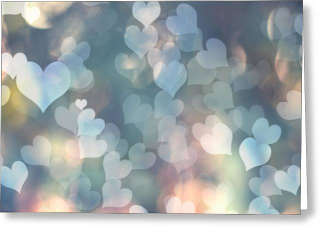 Heart Background Greeting Card by Amanda Elwell