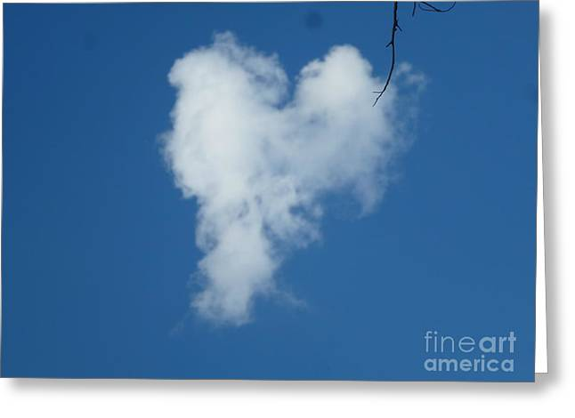 Heart Cloud Bell Rock Greeting Card by Marlene Rose Besso
