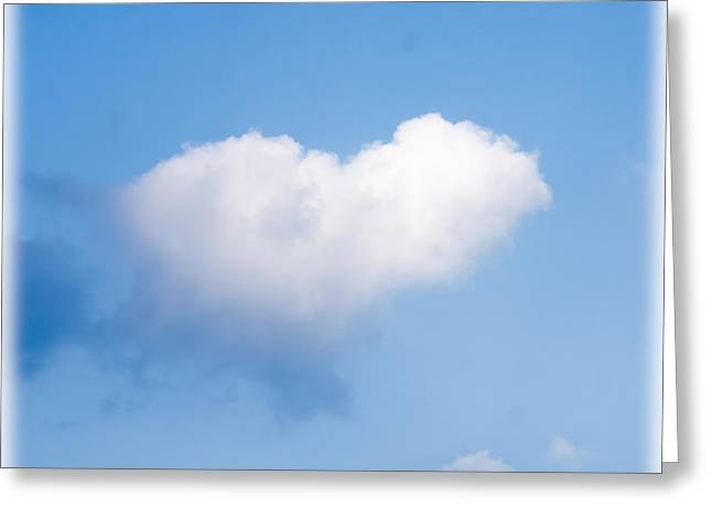 Heart Cloud Greeting Card by Shirley Tinkham