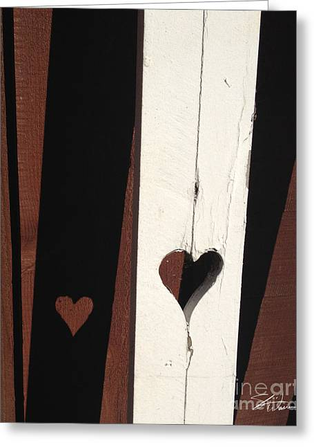 Heart Fence Shadow  Greeting Card