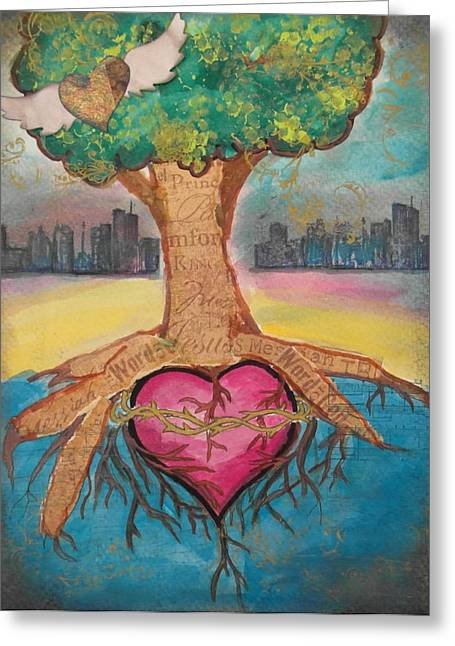 Heart For The City Greeting Card by Debbie Hornsby
