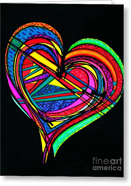 Heart Heart Heart Greeting Card