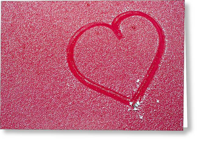 Heart In Snow Greeting Card by Andreas Berthold