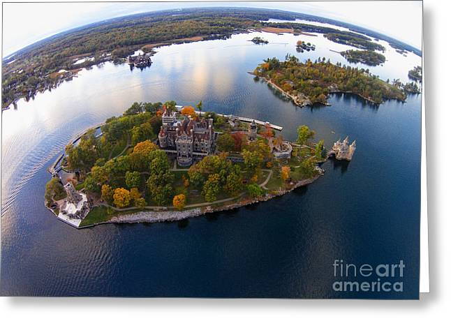 Heart Island George Boldt Castle Greeting Card by Tony Cooper