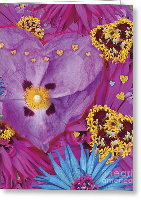 Heart Juxtaposition Greeting Card by Alixandra Mullins