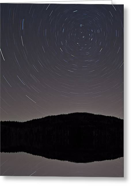 Heart Lake Under The Stars Greeting Card by Susan Candelario