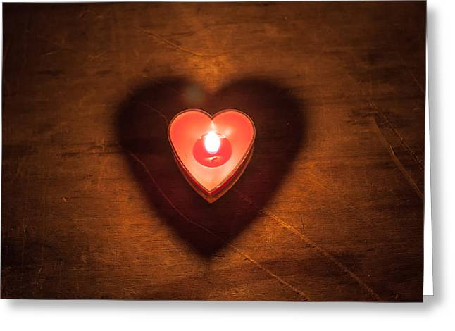 Greeting Card featuring the photograph Heart Light by Aaron Aldrich