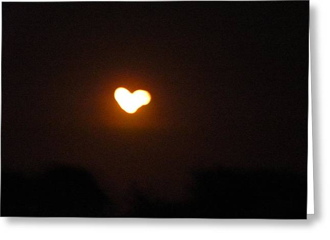 Heart Lightning Greeting Card by Cim Paddock