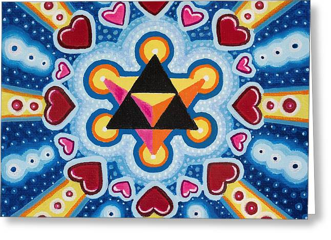Heart Merkaba Greeting Card by Christopher Sheehan