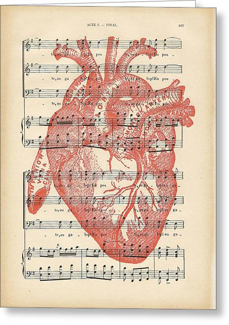 Heart Music Greeting Card