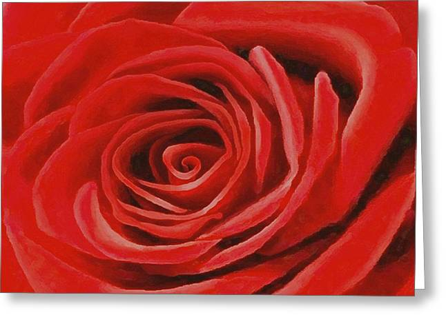 Heart Of A Red Rose Greeting Card