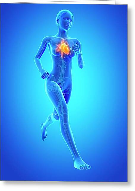 Heart Of A Runner Greeting Card
