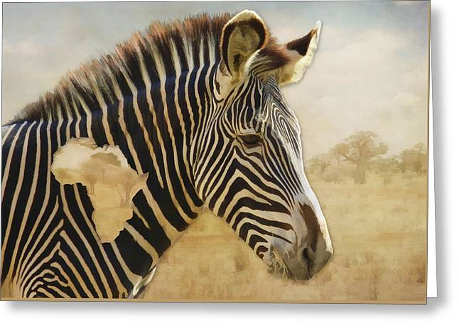 Heart Of Africa Greeting Card by Kathleen Holley