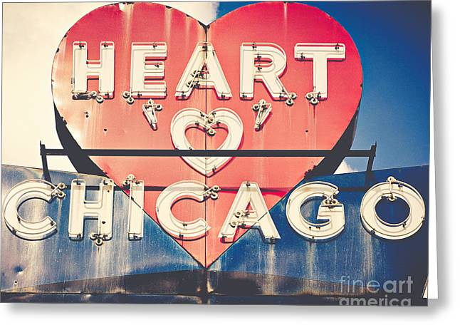 Heart Of Chicago Greeting Card by Emily Kay