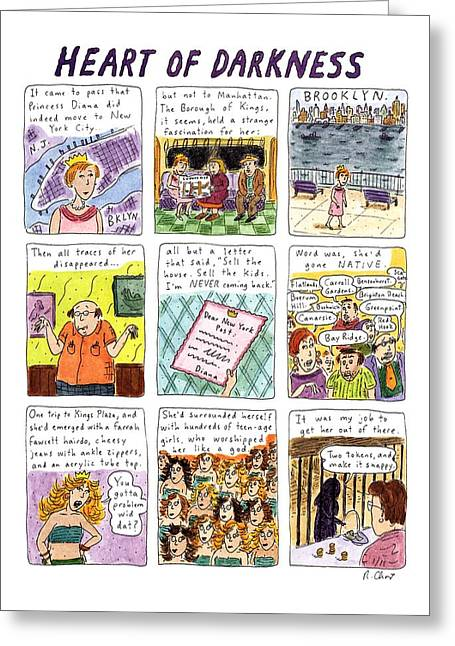 Heart Of Darkness Greeting Card by Roz Chast