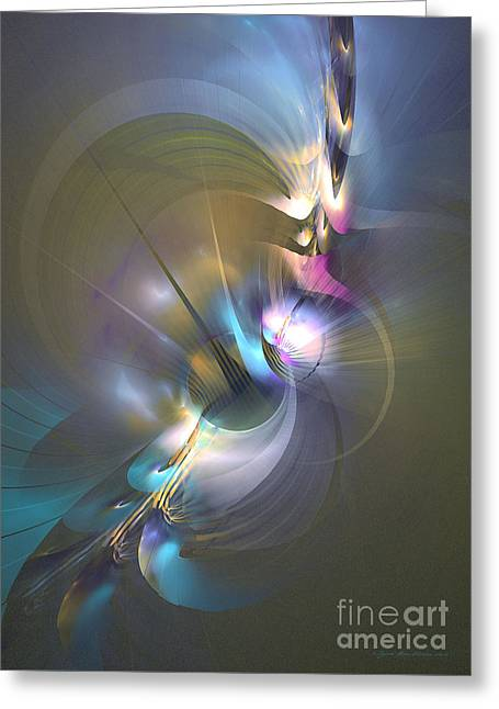 Heart Of Dragon - Abstract Art Greeting Card