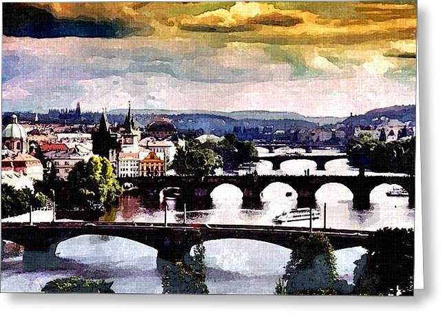 Heart Of Europe Greeting Card by Rachel Niedermayer