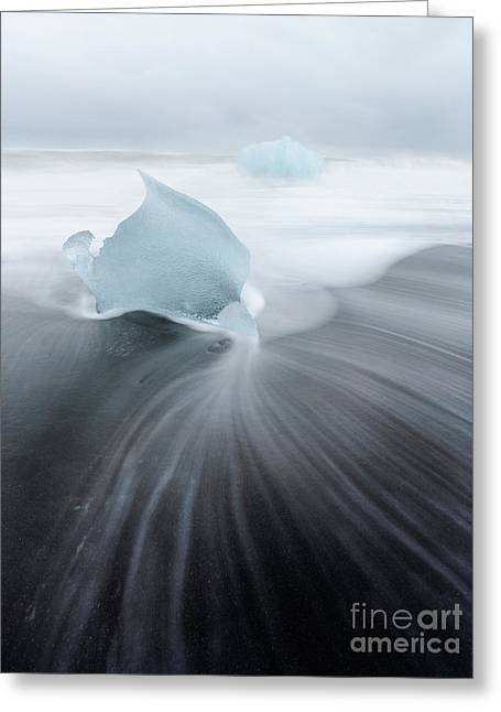 Heart Of Ice Greeting Card by Matteo Colombo
