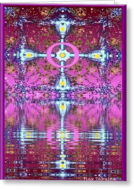 Heart Of My Heart Flowing Greeting Card by Ray Tapajna
