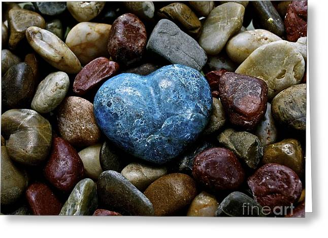 Heart Of Stone Greeting Card by Lisa  Telquist