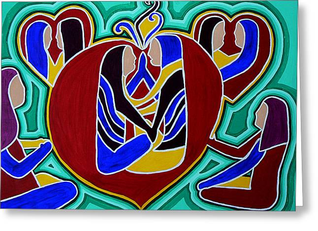 Heart Of The Ages Greeting Card by Barbara St Jean