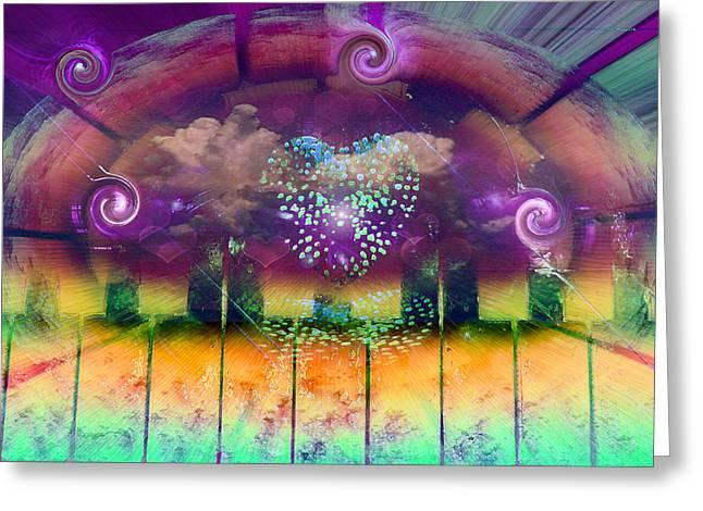 Heart Of The City Greeting Card by Linda Sannuti