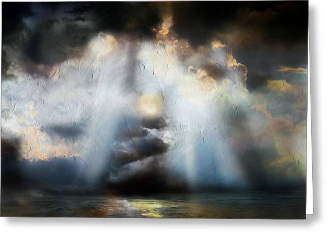 Heart Of The Storm - Abstract Realism Greeting Card by Georgiana Romanovna