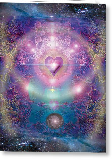 Heart Of The Universe Greeting Card by Alixandra Mullins