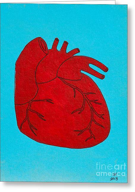 Heart Red Greeting Card