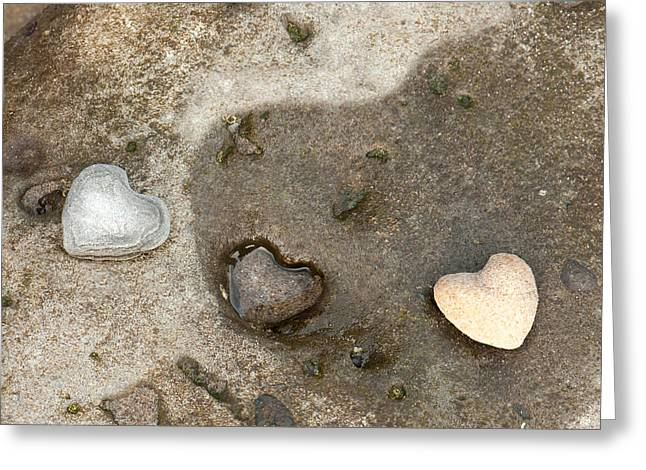 Heart Rock Love Greeting Card by Artist and Photographer Laura Wrede