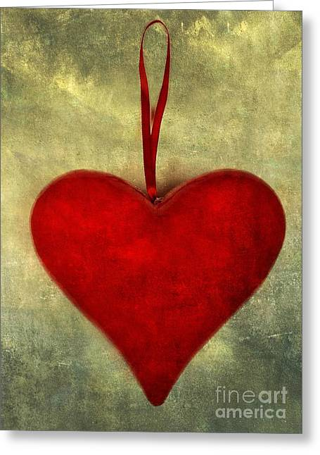 Heart Shape Greeting Card by Bernard Jaubert