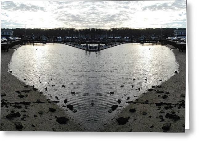 Heart  Shape In The Harbor Greeting Card